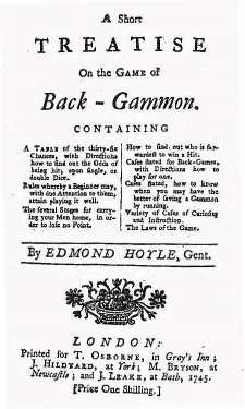 Hoyle's Treatise on Backgmmon